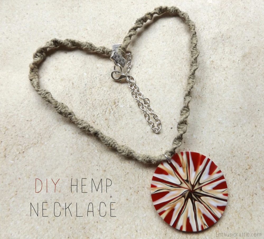 How To Make Hemp Necklaces: Enthusicraftic.com